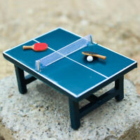 1:12 Dollhouse Miniature Table Tennis Set Realistic Wooden Toy Kids Gift Sanwood