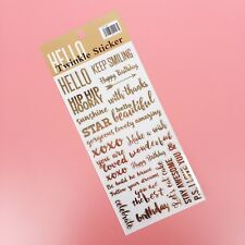GOLD FOILED Texte Stickers Craft Scrapbooking Cardmaking Planner FOIL Calligraphy