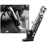 BLACK Adjustable Aluminium CNC Motorcycle Foot Kickstand Kick Side Stand #am8