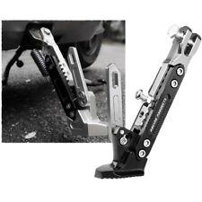 Adjustable Aluminium CNC Motorcycle Foot Kickstand Kick Side Stand BLACK #AM8