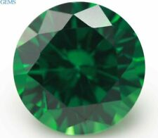 Natural Round Shape Green Emerald 5.2ct 10mm Faceted Cut AAAAA VVS Loose Gems