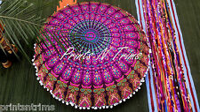 Indian Bohemian Boho Round Mandala Floor Cushion Cover Tapestry Decorative Throw