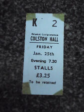 BARCLAY JAMES HARVEST - Colston Hall, Bristol 25/JAN/1980- Used Ticket stub
