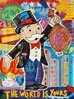 Graffiti Art Alec Monopoly Money World Is Yours Painting Poster Wall Art Canvas