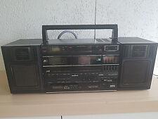 Vintage JVC PC-W320 Stereo Ghettoblaster tragbares Kasettenradio 80er Jahre