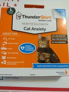 ThunderShirt Insanely Calm Cat Anxiety Jacket, Solid Gray, Large, New