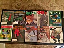 Lot of 10 magazines with Tiger Woods on the cover