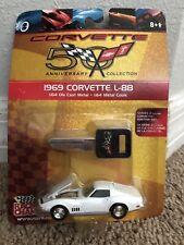 1969 Corvette L-88 1:64 Die Cast 50th Anniversary White Car GM Test Track