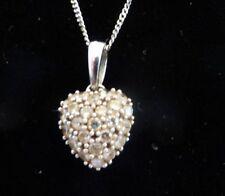 Anniversary White Gold SI2 Fine Diamond Necklaces & Pendants