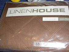 LINEN HOUSE Chocolate colour QUILTED VALANCE SINGLE SIZE BED BNIP