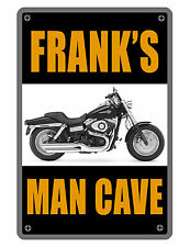 Personalized Man Cave / Garage Sign Printed YOUR NAME BIKER Aluminum Signs D#299