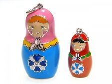 Russian Dolls by Svetlana hand made silver.925 russian doll pendant on the chain