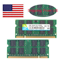 4GB 2x 2GB Intel PC2-5300S DDR2 667MHz 2Rx8 Laptop Memory RAM SODIMM 200pin US