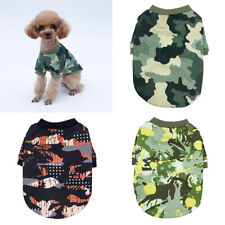 Puppy Dog Accessory Clothes Hoodie Cotton Camouflage Warm Sweater Shirt Durable