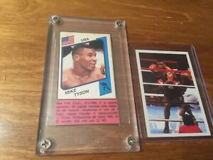1986 Panini Original Italian Mike Tyson ROOKIE CARDS RC #153/Question Of Sport🔥