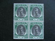 Malaya Kelantan Sc 58 MNH block of 4, check it out!