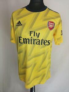 ADIDAS Men's Arsenal Away Jersey Shirt Yellow Short Sleeve Size MEDIUM K545
