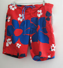 Tommy Hilfiger Mens Red Floral Boardshorts Sz XXL - NWT