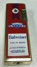 Vintage Pocket Cigarette Lighter Budweiser Korea As Is Untested Zippo Red Beer