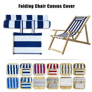 Beach Chair Canvas Seat Covers Folding Deck Chair Replacement Cover Waterproof