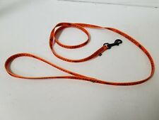 4 foot Harley Davidson Orange Leash for Small Dog