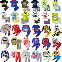 Toddler Kid Boy T-shirt Tops + Pants Casual Cartoon Nightwear Pajamas Outfit Set