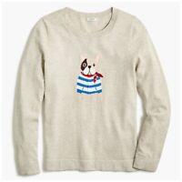 J. Crew Frenchie Bulldog Teddie Sweater NWT Size Small