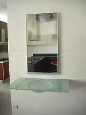 Bagno AXIA  composizione lavabo vetro temperato e specchiera