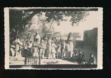 Central Asia Group of women and girls village scene abacus c1940/50s? RP PPC
