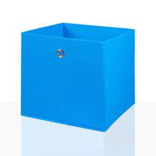 4er Set Faltbox Blau 32 x 32 cm Faltkiste Regalbox Aufbewahrungsbox Stoffbox