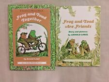 lot of 2 Frog and Toad books by Arnold Lobel, Frog and Toad Together & Friends.