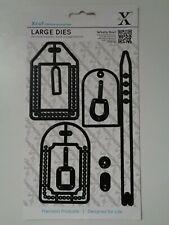 Docrafts Xcut All Aboard - Luggage Tags - Craft Cutting Die Set