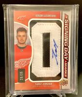 "2019-20 SP Game Uses Signing Day Marks RC #26/35 Jumbo Relic Auto TARO HIROSE ""O"