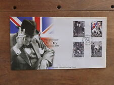 GIBRALTAR 2005 60th ANNIV END WWII SET 4 STAMPS FDC FIRST DAY COVER