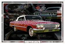1963 409 Chevy Impala Convert Poster Print