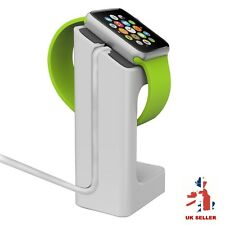 WHITE Apple Watch Series 1 2 Stand holder Charging Dock 38/42mm Docking Station