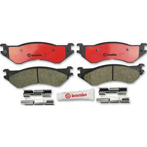 For Dodge Ram 1500 2500 3500 Rear Ceramic Slotted Brake Disc Pads Set Brembo
