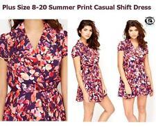 Summer/Beach Crew Neck Short Sleeve Floral Dresses for Women