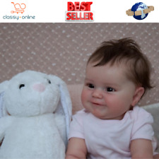 Realistic Reborn Smiling Baby Dolls 50cm Lifelike Doll Newborn Baby Girl GIFT