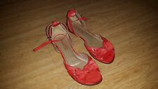 Womens Leather Red Sandals-Lasocki, size UK 5 / 38 EU