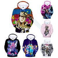 JoJo's Bizarre Adventure Anime Hoodie Sweatshirt Unisex Fullprint Pullover Coat