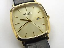 Rotary Windsor Sapphire Gents Gold-plated Case Watch GS02402/03