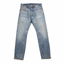 Double rl, rrl, slim fit, blue, light weight selvedge jeans. 30, 32, 34, 36