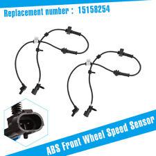 Pair For 2002-2009 Chevrolet Trailblazer GMC 4.2L ABS Front Wheel Speed Sensor