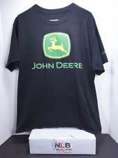 HANES John Deere Tractors Company Logo Men's Black T-Shirt Size Large
