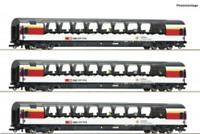 Roco 74081 HO Gauge SBB Gotthard Panorama Express Coach Set (3) VI
