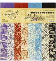 """Graphic 45 Double-Sided Paper Pad 12""""X12"""" 16/Pkg Life's A Journey 850004977675"""