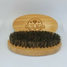 Wooden Boar Hair beard brush, Natural Bristles with wooden Handle,