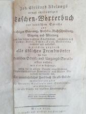 Adelung  ?  Taschen-Wörterbuch  der  deutschen  Sprache  aus  1826