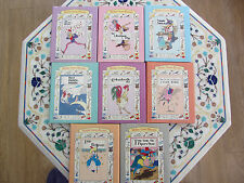 Set 8 Books Mother Goose Rhymes H/B with Dust Covers 1995 Vintage